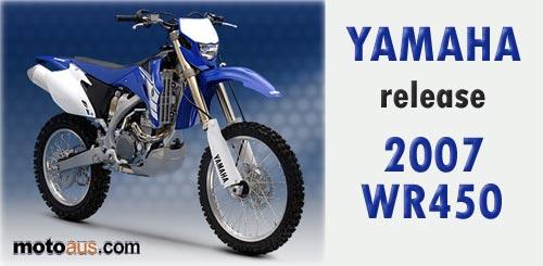 Yamaha WR450 2007
