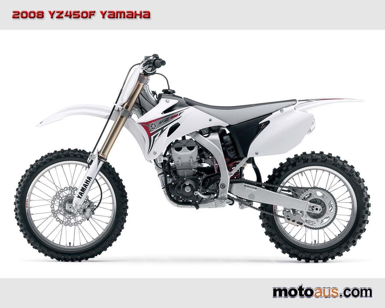 2008 YZ450F Red White Yamaha