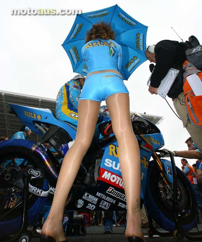The Rizla Suzuki MotoGP girls at Indianapolis GP